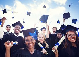 pic of graduation gown  - Celebration Education Graduation Student Success Learning Concept - JPG