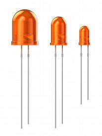pic of mm  - Set of orange LEDs  - JPG