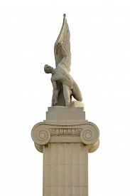 image of amtrak  - An Ancient Greek Statue of Winged Angle Isolated - JPG