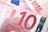 image of ten  - Background from the ten euro banknores - JPG