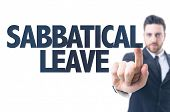 picture of sabbatical  - Business man pointing the text - JPG