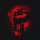stock photo of street-art  - The protest logo - JPG