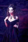 stock photo of corset  - Victorian lady - JPG
