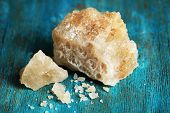 picture of crust  - Crust of sea salt from Dead Sea coast - JPG