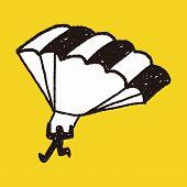 pic of parachute  - Doodle Parachute - JPG
