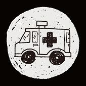 picture of ambulance  - Doodle Ambulance - JPG