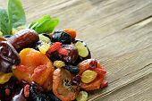 stock photo of apricot  - Assorted dried fruits  - JPG