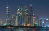 picture of dubai  - A skyline panoramic view of Dubai Marina showing the Marina and Jumeirah Beach Residence - JPG