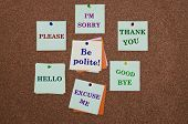 stock photo of politeness  - Be polite advice like I - JPG