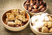 stock photo of brazilian food  - Delicious sweets for the Brazilian Festa Junina Party - JPG