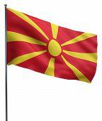 picture of macedonia  - Macedonia flag waving image isolated on white - JPG