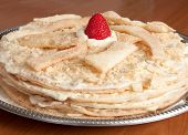 image of custard  - Napoleon Cake a Russian Variation of a French Pastry Mille - JPG