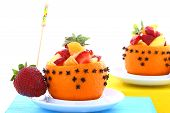 pic of fruit platter  - studio environment photographed with white background mixed fruit platter - JPG