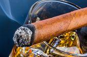 image of cigar  - cigar and whiskey - JPG