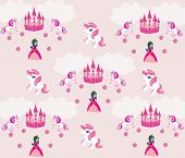 picture of unicorn  - Princess unicorn and castle Background  - JPG