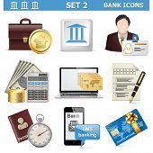 image of golden coin  - Vector Bank Icons Set 2 - JPG