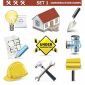 stock photo of valves  - Construction Icons Set 1 - JPG