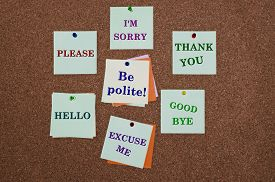picture of politeness  - Be polite advice like I - JPG