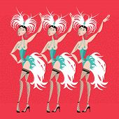 Showgirls. Women Performing A Dance. poster