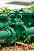 groen water ventiel