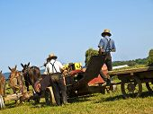 pic of horse plowing  - Amish Farmers working in Lancaster county - JPG