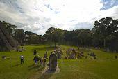 Tourists Tikal poster