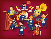 Постер, плакат: Set of musicians