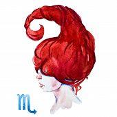 Scorpio horoscope raster poster