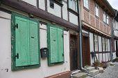 Streetview van een oude Duitse middeleeuwse stad