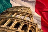 Colosseum On Flag
