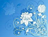 Elemento de Design, ornamento de flores