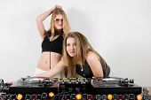 Female Djs At The Turntables