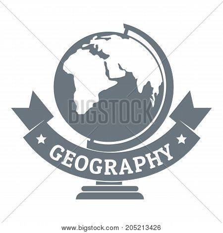 poster of Geography logo. Simple illustration of geography vector logo for web