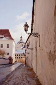 View Of Vilnius Oldtown Street. Lithuania.