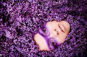 beauty lilac girl portrait