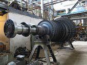 Power Generator Steam Turbine During Repair At Power Plant poster