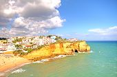 Carvoeiro at the Atlantic ocean in the Algarve Portugal