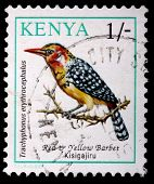 A 1-schilling Stamp Printed In Kenya