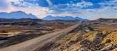 Road Through The Desert To The Horizon poster