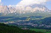 Cortina d'Ampezzo and Cristallo - Dolomites, Italy