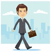 Young Active Businessman