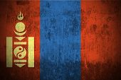 Weathered Flag Of Mongolia, fabric textured