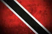 Weathered Flag Of Trinidad and Tobago, fabric textured