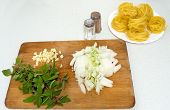 Preparing For Cooking Pasta2 Chopped Onion Basilik poster