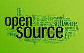 stock photo of open-source  - Open source word cloud illustration - JPG