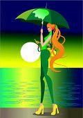 The girl in the rain