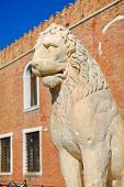 pic of arsenal  - Lion is guarding entrance to famous Venetian arsenal Italy - JPG