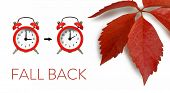 Fall Back Time. Winter Time Change. Daylight Saving Time. poster