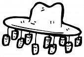 australian hat cartoon