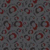 Red-gray Seamless Pattern
